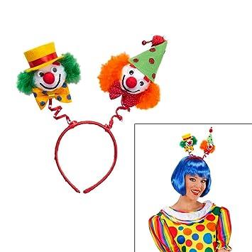 Net Toys Clown Haarreif Zirkus Kopfschmuck Grun Orange Harlekin