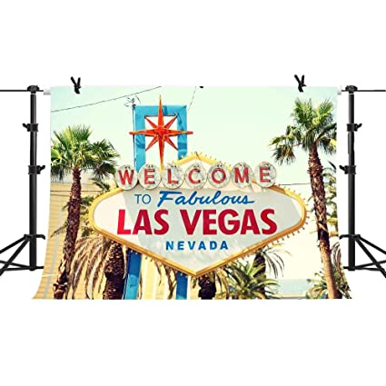 10X7ft Welcome Las Vegas Fondo para fotografía Vacaciones ...