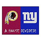 NFL House Divided - Redskins/Giants Rug, 34'' x 45''/Small, Black