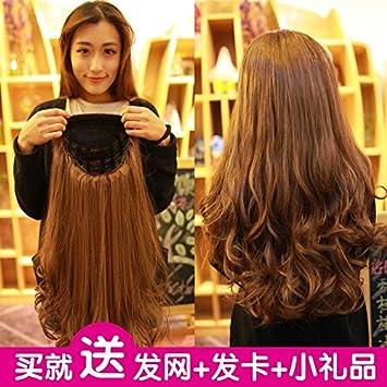 Amazon Com Semi Custom Caps Long Curly Hair Wig Women