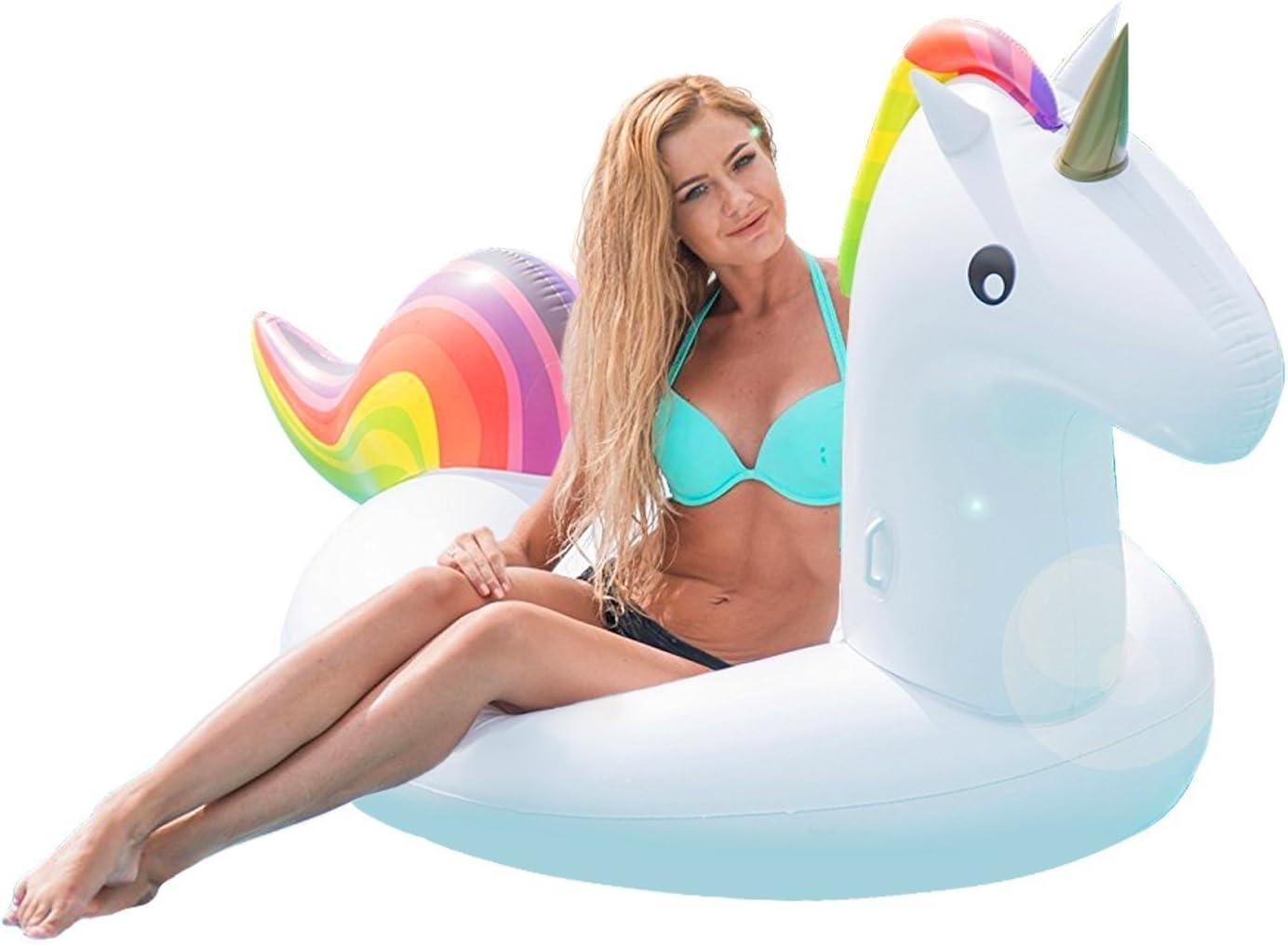 Flotador Unicornio Hinchable Grande, 200x100x90cm - Colchoneta Inflable Unicornio Juguetes para la Piscina Playa Verano para Niños y Adultos: Amazon.es: Juguetes y juegos