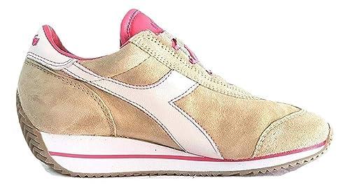 detailed look aec90 89026 Diadora Heritage Donna, Equipe HH Kidskin Stone, Suede/Pelle, Sneakers,  Marrone