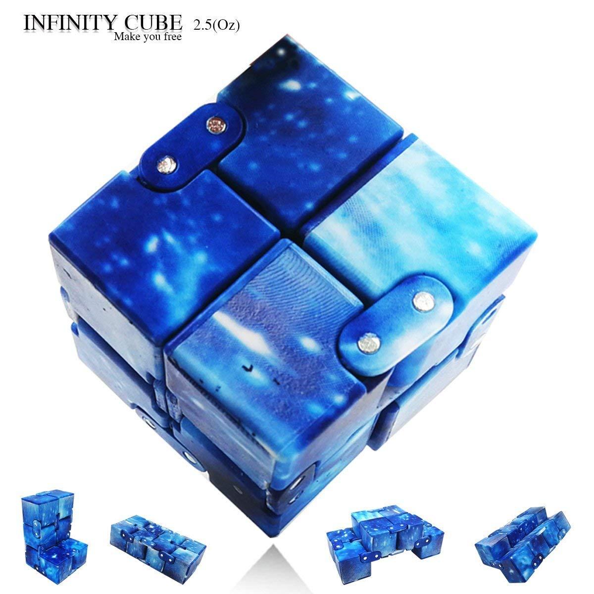 LIHJO Interstellar Infinity Cube Fidget Cube Anti Stress Adults Kids Gift EDC for ADHD Funny Finger Toys