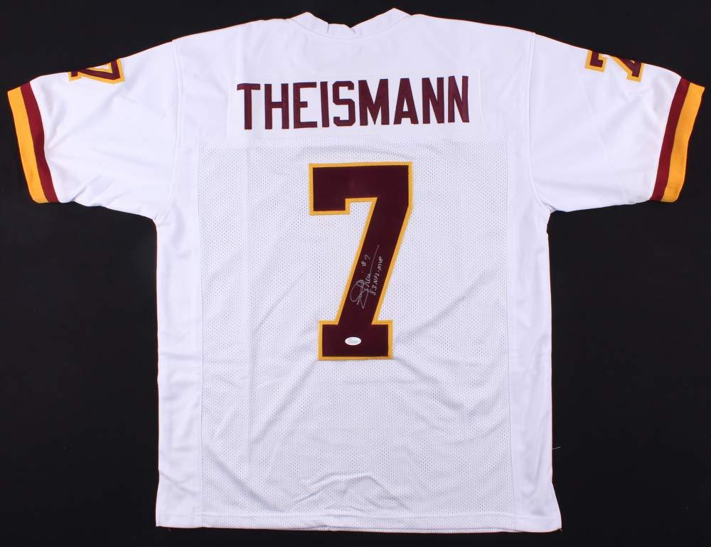 classic fit dea52 99620 Joe Theismann Autographed White Washington Redskins Jersey ...