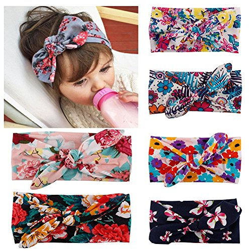 - Fasker 6 Pack Baby Girl Headband Turban Knotted Headwraps for Newborn & Toddlers