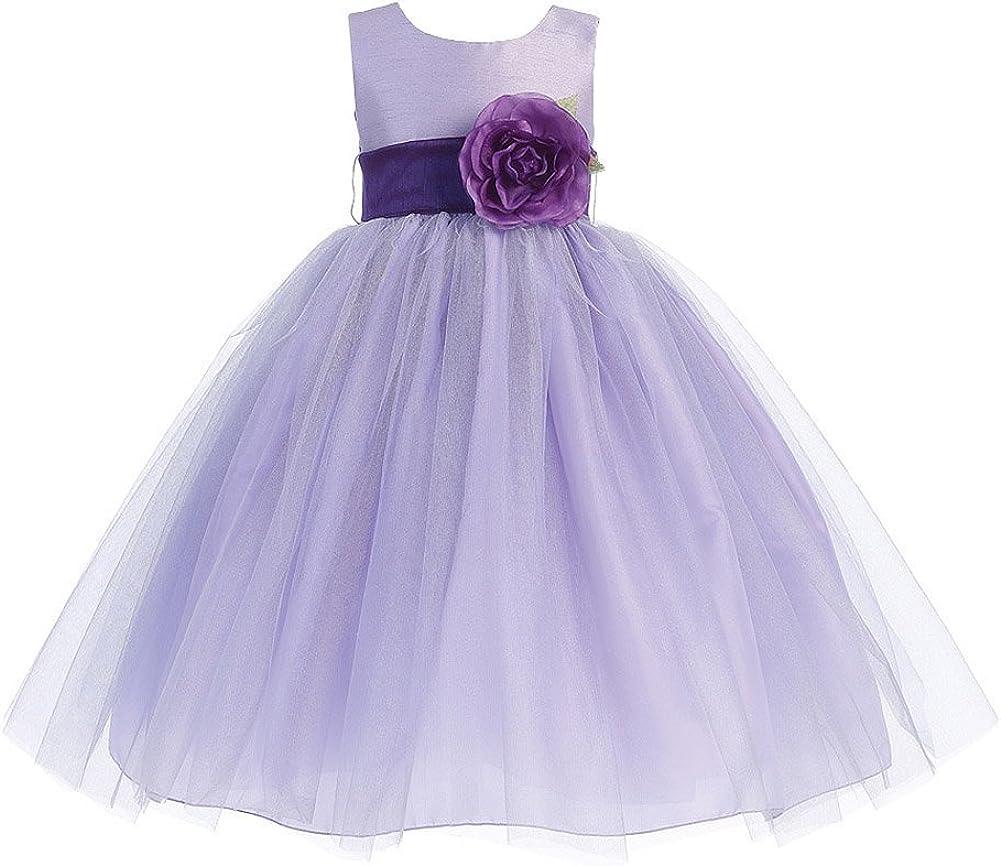 Lito Girl's Blossom Poly Deluxe Silk Bodice Girl Tulle Mail order Skirt D Flower
