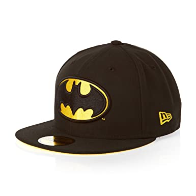ecd8e6b4a7d6 New Era x DC Comics - Casquette Fitted Homme Batman 59Fifty Character Basic  Badge - Black