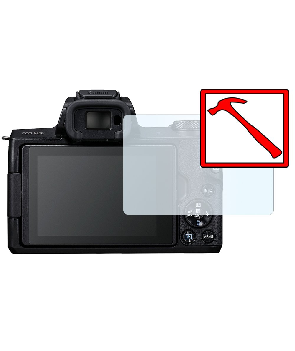 Slabo Premium Pellicola Protettiva in Vetro Temperato per Canon EOS M50 Pellicola Protettiva Schermo Tempered Glass Crystal Clear Graffi Fino a 9H