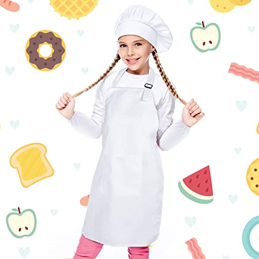 Curious Chef 4-Piece Child Chef Textile Set for Girl or Boy