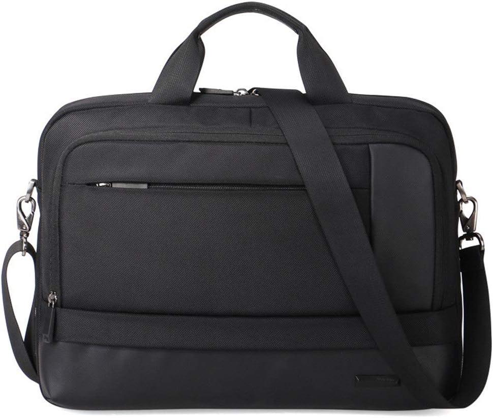 RVXHC Man Laptop Bag Large Laptop Briefcase Business Office Bag Laptop Briefcase Carry On Handle Case for Computer 16 Inch Laptop Business Briefcase Color : Black, Size : 42832cm