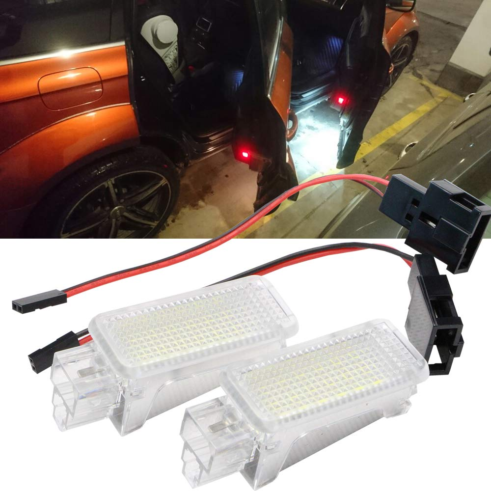 12V LED Luggage Interior Footwell Step Light for A3 S3 A4 S4 RS4 A5 S5 TT 5/ Passat Seat Superb Newsun