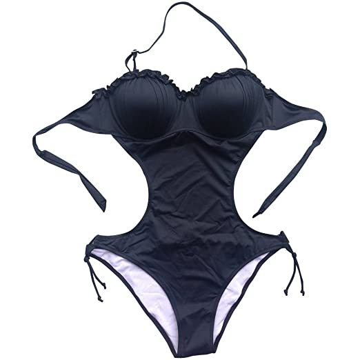 71458152bd6 Foclassy Women's Sexy Push-up Monokini One-Piece Swimsuit at Amazon ...