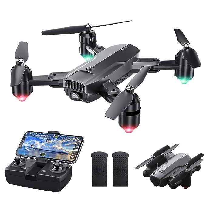 Dragon Touch Drone Plegable con Cámara 1080P HD Avión con WiFi FPV Control Remoto RC Quadcopter Drone para Adultos Niños…
