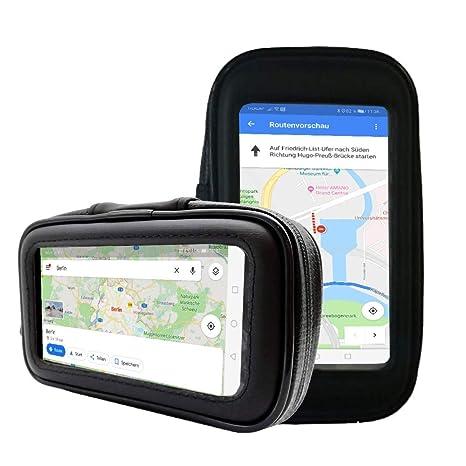 BerryKing Wheel Adventurebag Soporte bicicleta y motocicleta con bolsa de protección para Smartphone Teléfono móvil Dispositivo de navegación como ...