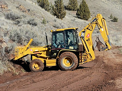 Kids Backhoe Construction Machine - Working on the job site (Videos Site Construction)