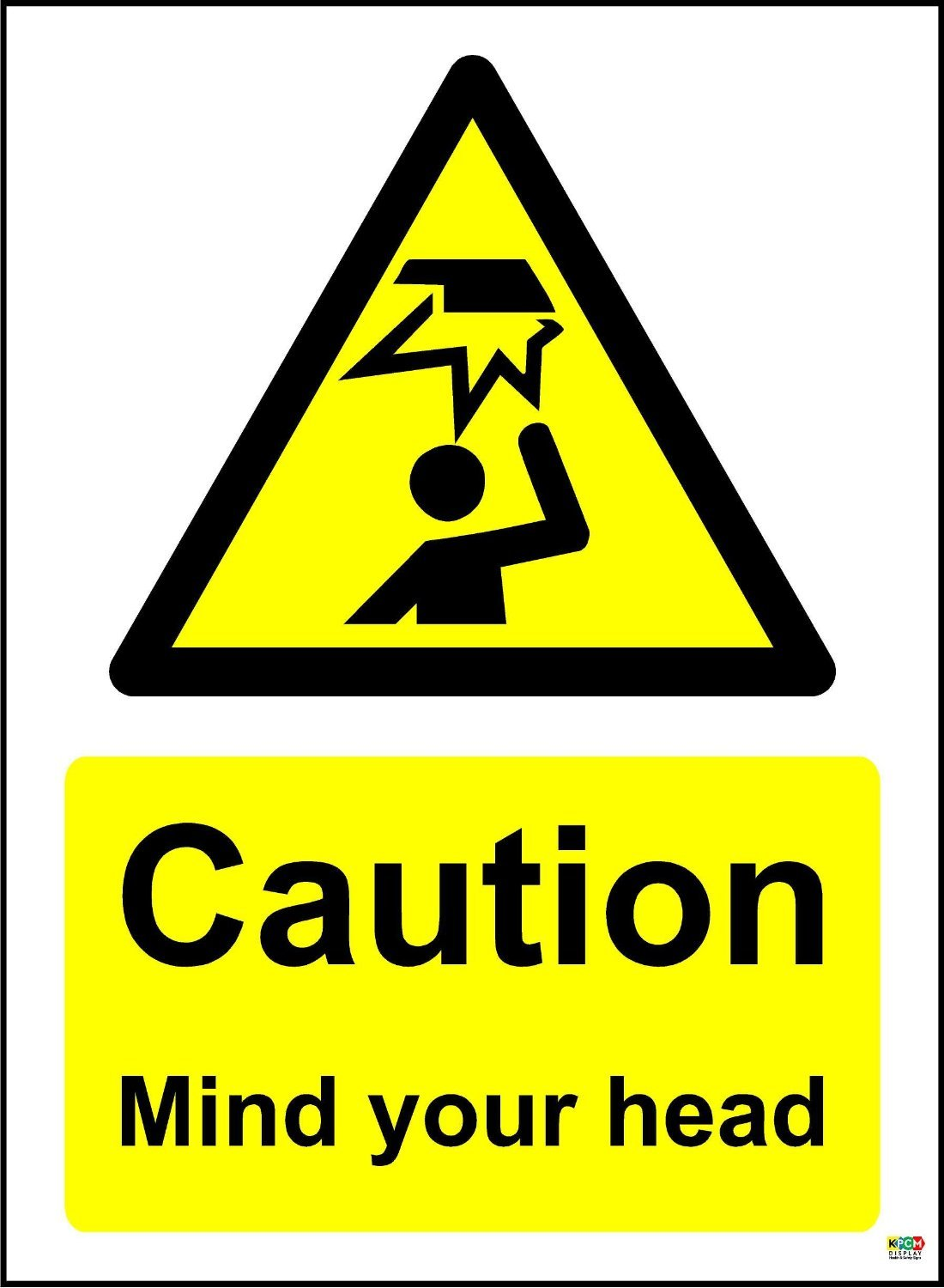 5 x CAUTION MIND YOUR HEAD SELF ADHESIVE STICKERS SAFETY SIGNS BUSINESS