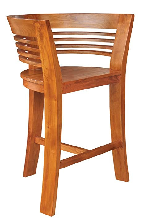 chic teak furniture waxed half moon bar stool made by furniture a5 chic