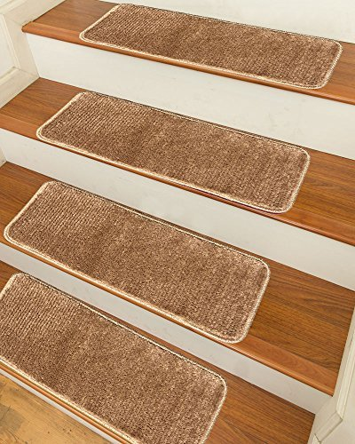 Sweethome Stores Luxury Collection Soft Solid Camel Shaggy Non-Slip (9X26') Shag Carpet Stair Treads by Sweethome Stores from Sweet Home Stores