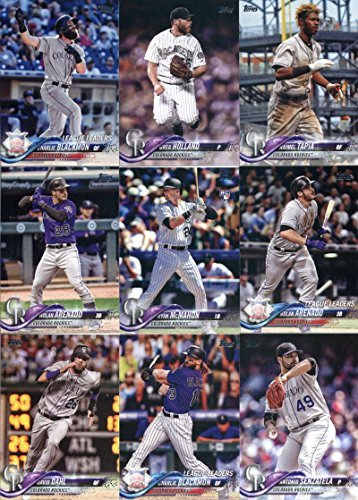 2018 Topps Colorado Rockies Team Set of 15 Baseball Cards (Series 1)