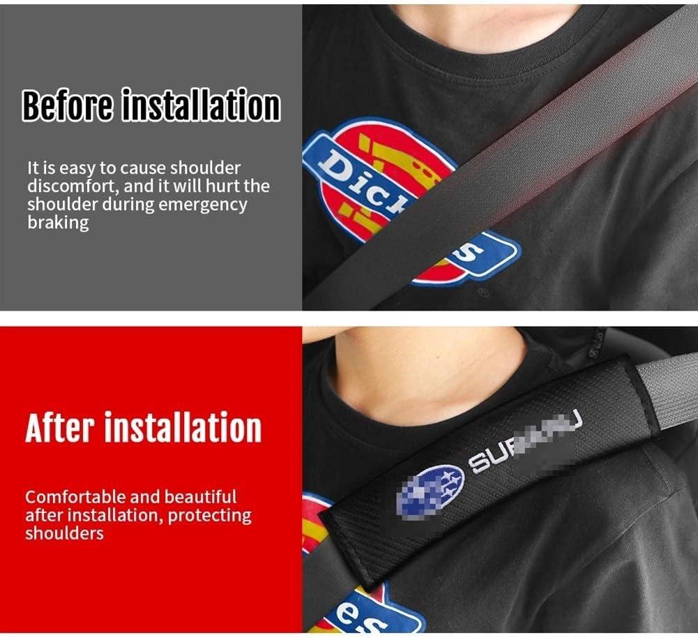 XMSM Gurtpolster Sicherheitsgurt F/ür Subaru Legacy Forester Outback Rallye WRC WRX XV Impreza Car-Styling 2Pcs Auto Emblems Sicherheitsgurt Abdeckungen Auto B/ügel Gurtschutz