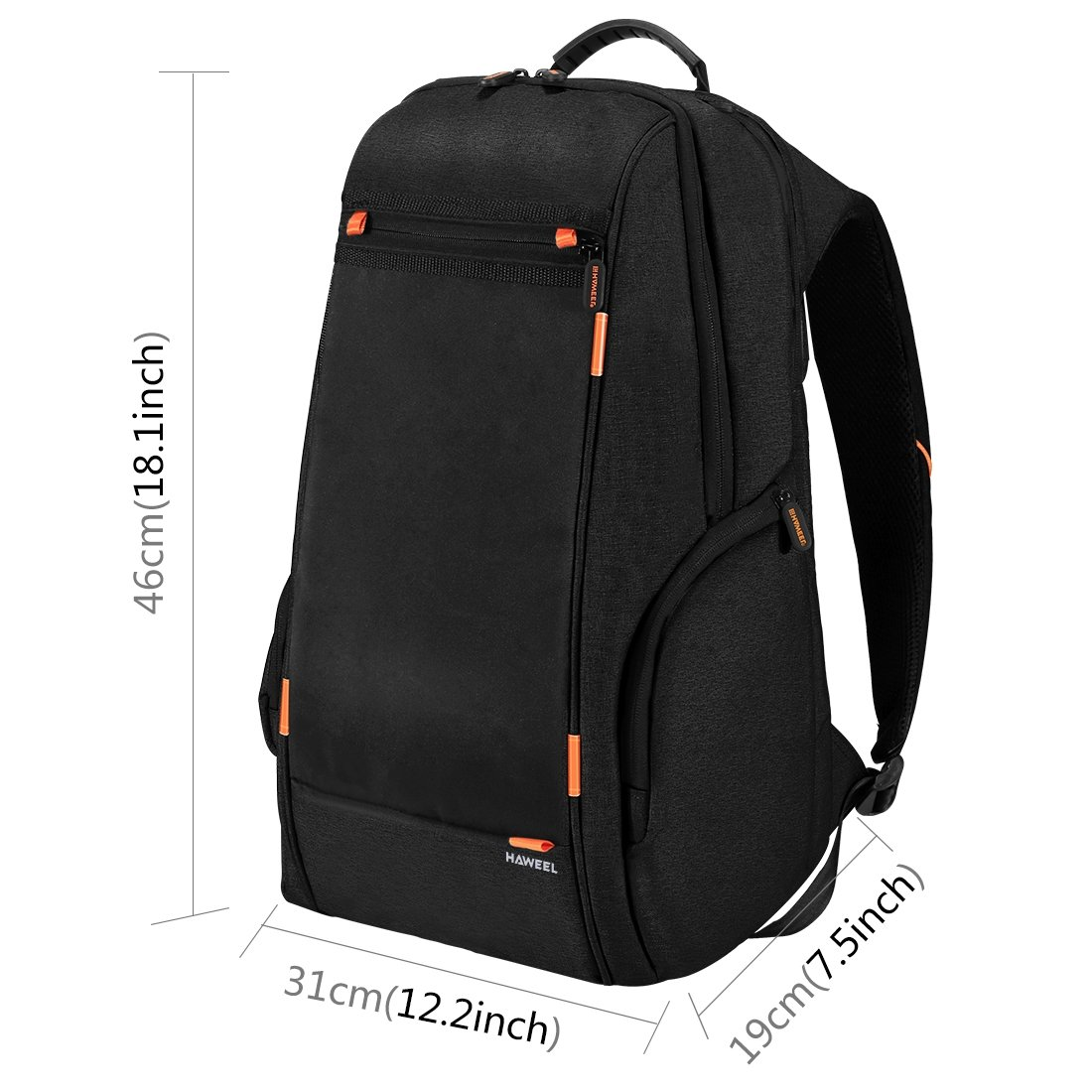 Amazon.com  HAWEEL Outdoor Multi-function Solar Panel Power Breathable  Casual Backpack Laptop Bag School Bookbag for College Travel Backpack, With  USB ... e1fab3d2d9
