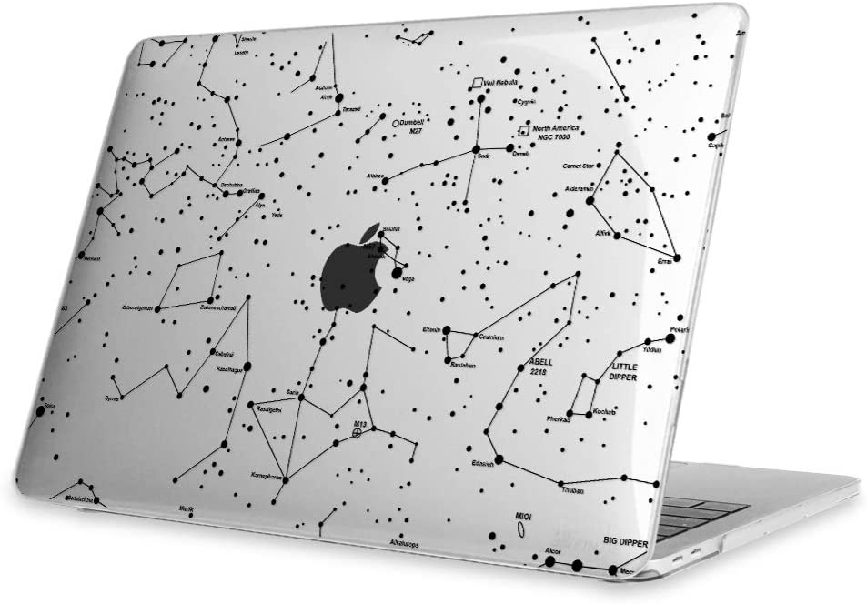 Fintie Case for MacBook Pro 13 (2019 2018 2017 2016 Release) - Snap On Hard Shell Cover for MacBook Pro 13 Inch A2159 A1989 A1706 A1708 with/Without Touch Bar and Touch ID, Constellation