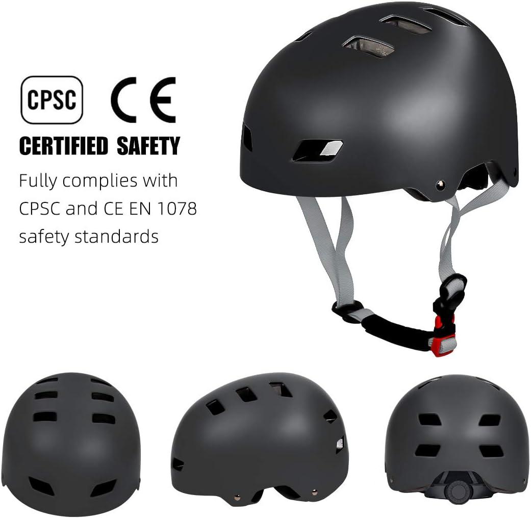 Bike Suitable for Multi-Sport Scooter Lightweight and Safetly Skating Skateboarding for Kids Skateboard Helmet Rollerblading Youth /& Adults