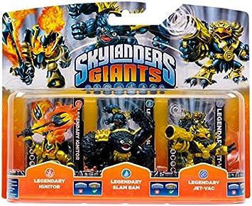 Skylanders Giants - Paquete triple exclusivo / Legendario Jet-Vac / Legendario Slam Bam / Legendario Ignitor: Amazon.es: Juguetes y juegos