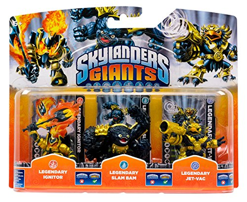 Skylanders Giants Legendary Ignitor , Legendary Slam Bam , Legendary Jet-Vac by Activision