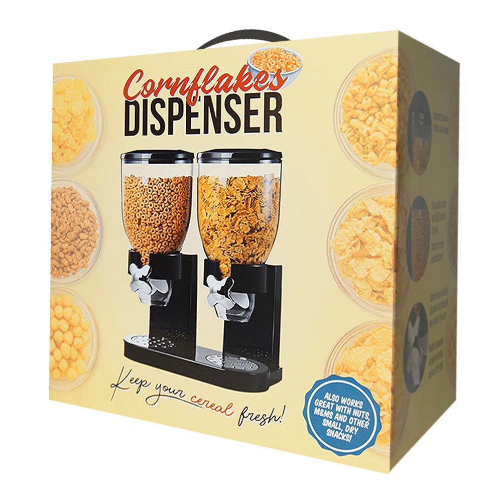 Unknown Cornflakes Dispenser zwart 2 x 500 gram: Amazon.es: Alimentación y bebidas