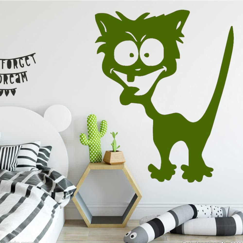 xingbuxin Dibujos Animados Lindo Gato Pegatinas de Pared Etiqueta ...