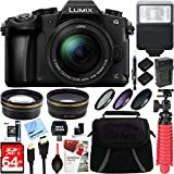 Panasonic LUMIX G85 4K Mirrorless Camera with 12-60mm Lens + Two-Pack BLC12 Spare Battery + Accessory Bundle