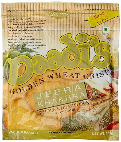 Daadi's Golden Wheat Crisps Jeera Khakhra (Pack of 3)