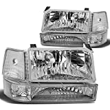 92 f150 headlight assembly - Ford F-150 Bronco Replacement Headlight Lamp Assembly (Chrome Housing) - 5 Gen