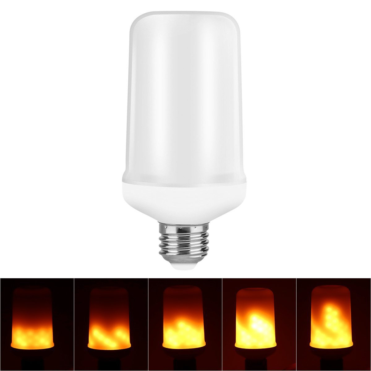 Jekewin Led Flame Effect Light Bulb Flickering Flame Lamp Simulated Vintage LED Lamp for Home and Hotel Decorative with E26 Standard Base