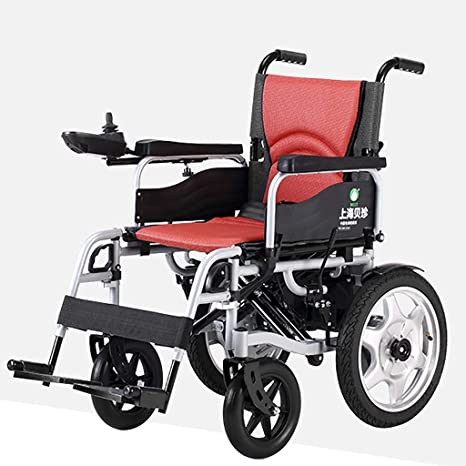 L-Life Silla de ruedas, manual eléctrico doble uso plegables ligero viaje de ancianos