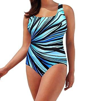 Traje de baño para Mujer una Pieza Trikini Acolchado Bañador para ...