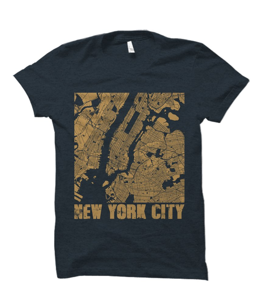 New York City Landscape Street Map Adult Tshirt