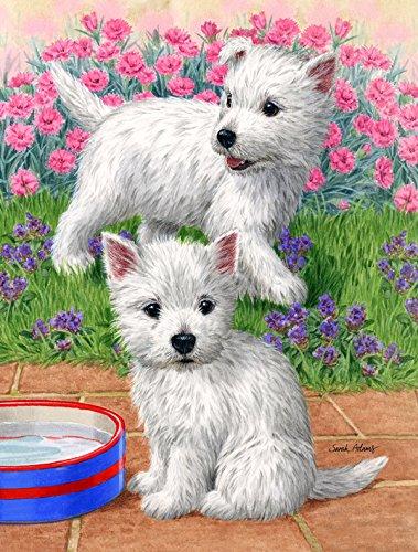Caroline's Treasures ASA2117GF Westie Pups Garden Size Flag, Small, Multicolor