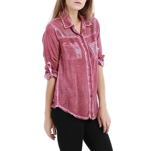La Modeuse - Camisas - para mujer rojo talla única