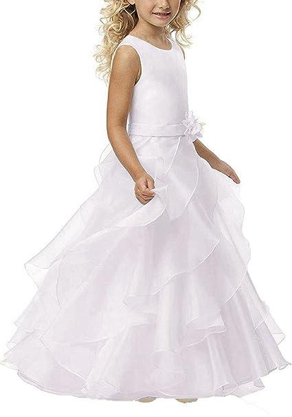 1dce7b464 YoYodress Vestidos de primera comunión para las muchachas Vestido largo de  la muchacha de flor para