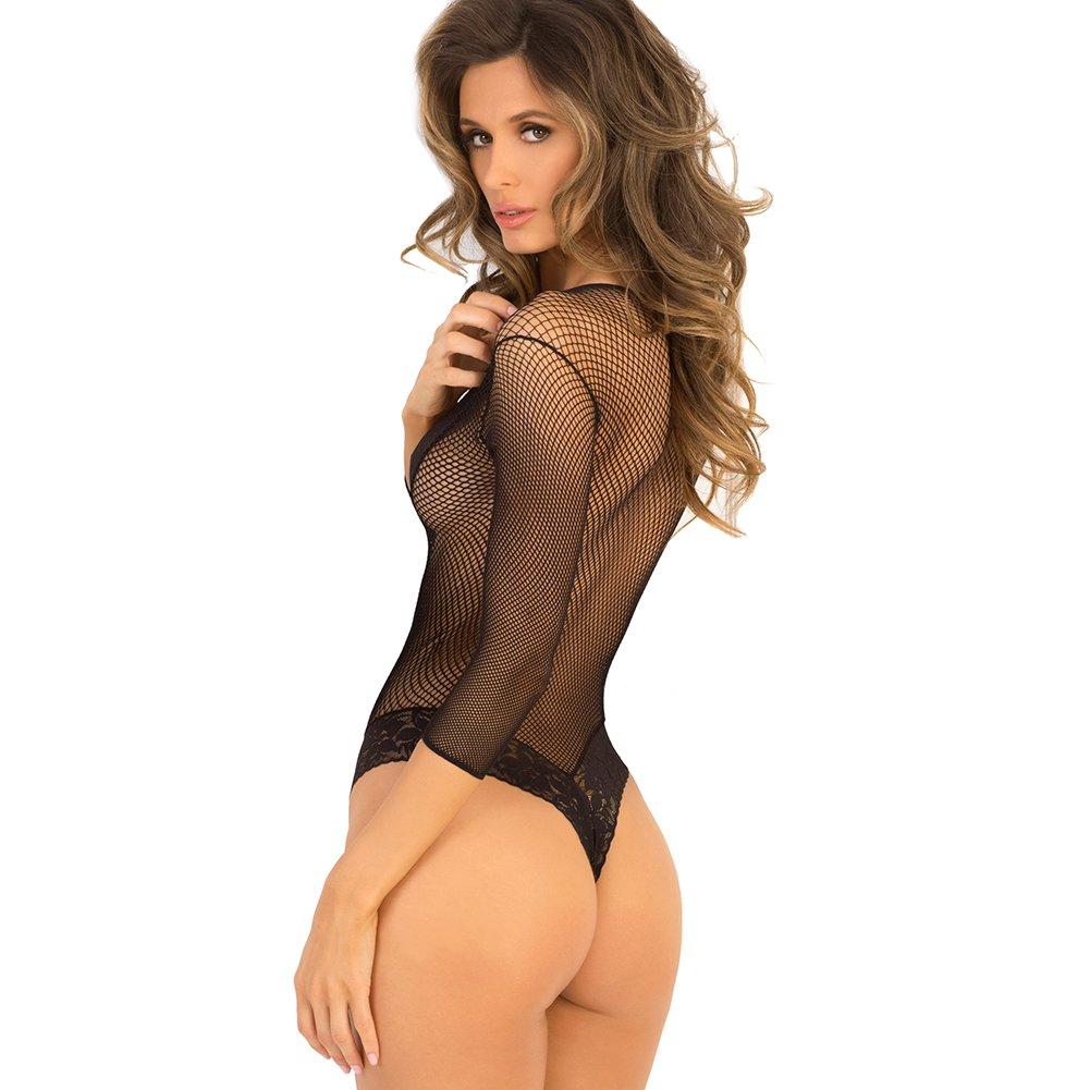 534d9d95b Women s Sexy Teddy Fishnet Fantasy Thong One Piece See Through Bodysuit ( Medium Large