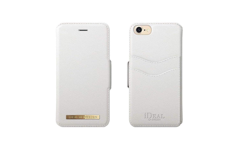 on sale 1da00 40ff0 Amazon.com: iDeal Of Sweden Fashion Wallet Case in White Saffiano ...