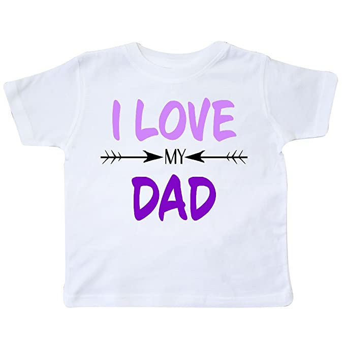 1e9278bc Amazon.com: inktastic - I Love My Dad Fathers Day Toddler T-Shirt 5 ...