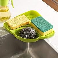 FreshDcart Plastic Kitchen Corner Shelf with Tray Holder Multipurpose Kitchen Sink Organizer Tool for Dish Wash (Large, Multicolor)