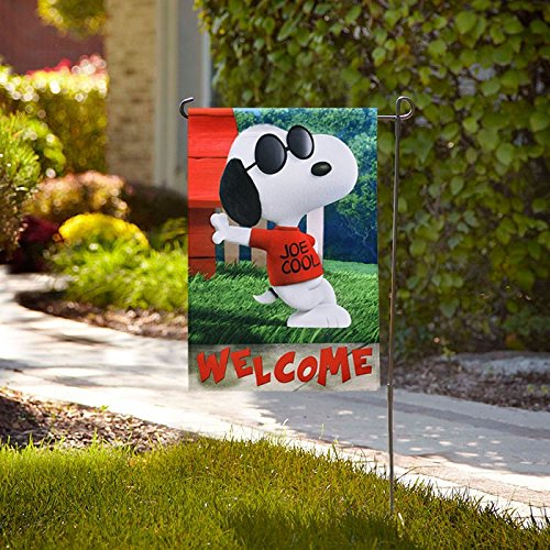 Jetmax Peanuts SPRING WELCOME GARDEN Flag 12