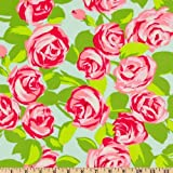Amy Butler Love Tumble Roses Pink Fabric By The Yard