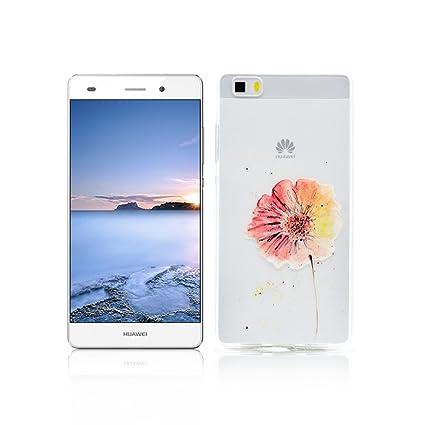 Funda Huawei P8 Lite Carcasa Protectora OuDu Funda para Huawei P8 Lite Caso Silicona TPU Funda Suave Soft Silicone Case - Margarita