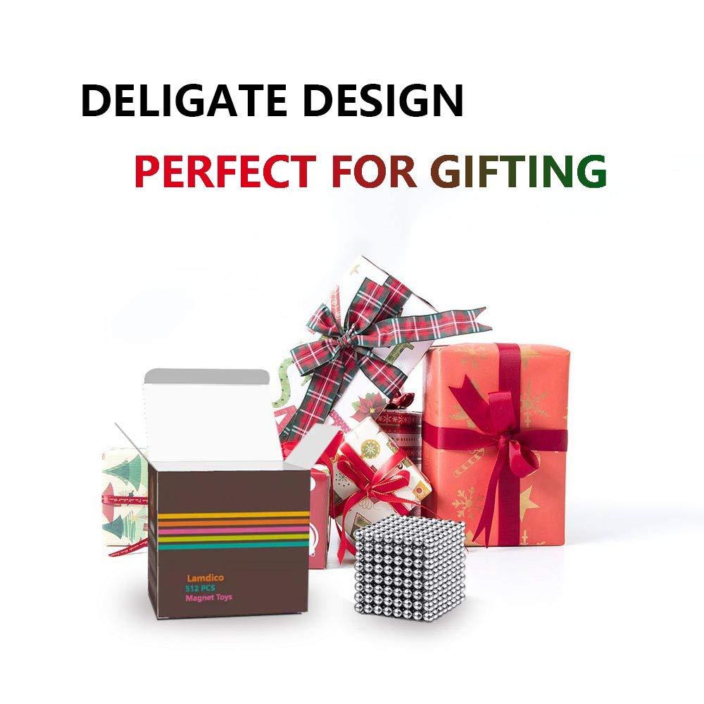 Lamdico Fidget Cube 512 Pcs,Desk Cube for Stress Relief & Creative Inspiration Include Splitter Card and Storage Bag by Lamdico (Image #6)