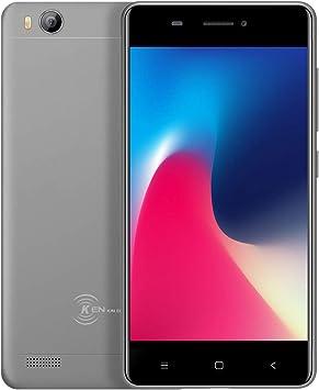 Barato Dual Sim Gratis Teléfonos móviles desbloqueados, 3G Android Smartphone, Kin Xin Da V5, 4 pulgadas Mini teléfono, Quad Core 1 g / 8 g GPS WIFI Teléfono celular (gris): Amazon.es: Electrónica